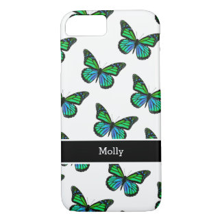 Cute Butterfly Monogram Design iPhone 8/7 Case
