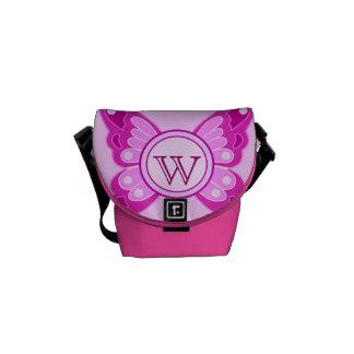 Cute Butterfly Monogram Messenger Bag