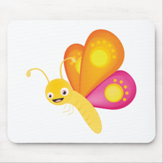 Cute butterfly mouse pad
