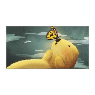 Cute Butterfly Sea Otter Art Monarch Extra Large Canvas Prints
