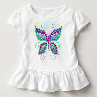 Cute Butterfly Toddler Ruffle Tee