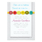 Cute Button Baby Shower Invitation