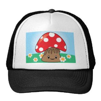 Cute Button Mushroom Mesh Hat