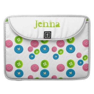 Cute Buttons  Flap  Macbook Pro Sleeve