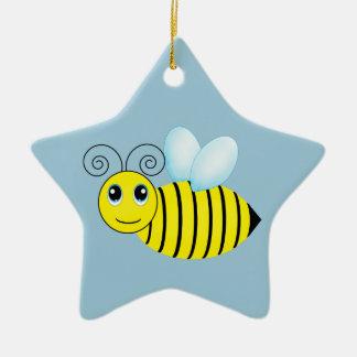 Cute Buzzing Honey Bee Ceramic Star Decoration