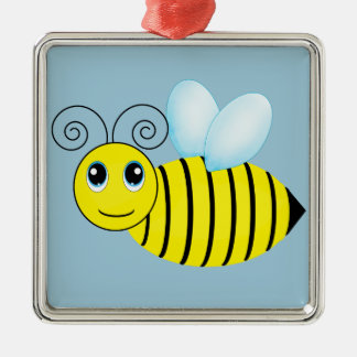 Cute Buzzing Honey Bee Christmas Tree Ornaments
