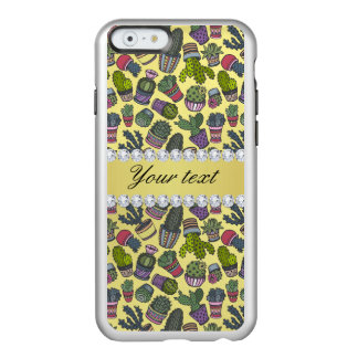 Cute Cactus Faux Gold Foil Bling Diamonds Incipio Feather® Shine iPhone 6 Case