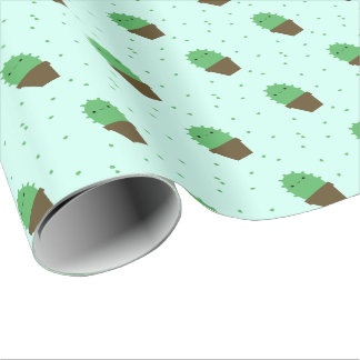 Cute Cactus kawaii plant wrapping paper