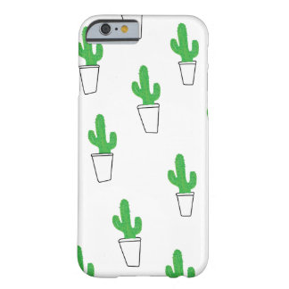 Cute Cactus Minimal Doodle Barely There iPhone 6 Case