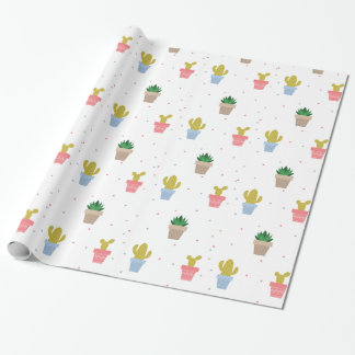 Cute Cactus Wrapping Paper