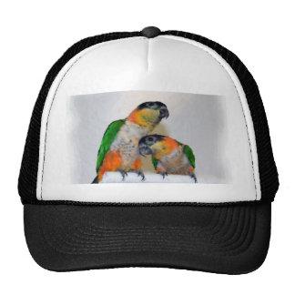 Cute Caique Parrot Pair Hat