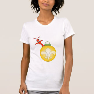Cute Cajun Crawfish Fleur de Lis Noel T-shirts