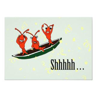 Cute Cajun Crawfish Surprise Party Invitations
