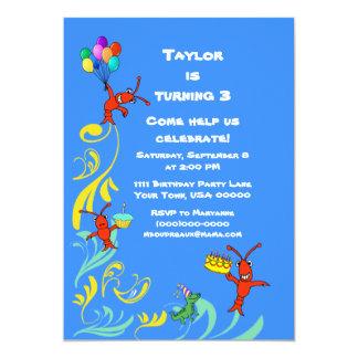 Cute Cajun Critters Child's Birthday Invitation