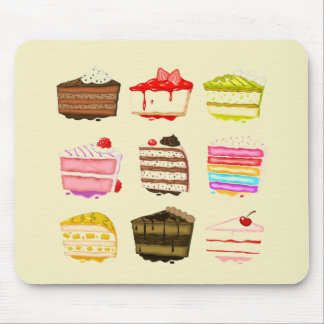 Cute cake birthday cake with colourful cream mouse pad