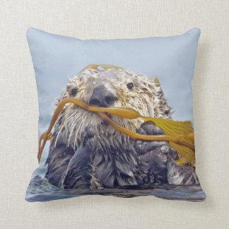Cute California Sea Otter 2-sided Pillow