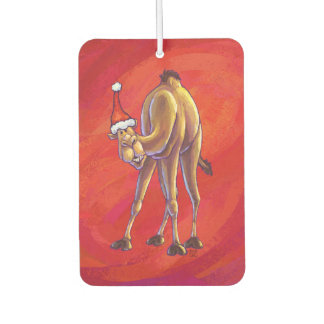 Cute Camel Christmas On Red