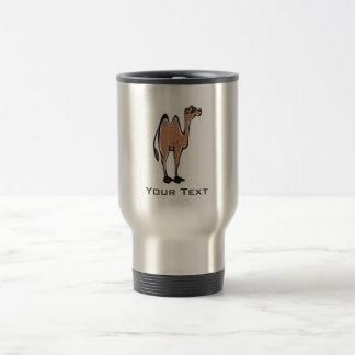 Cute Camel; Metal-look Stainless Steel Travel Mug