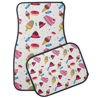 Cute candy and sweet colored pattern car mat