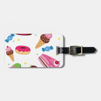 Cute candy and sweet colored pattern luggage tag