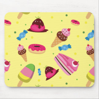 Cute candy and sweet colored pattern mouse pad