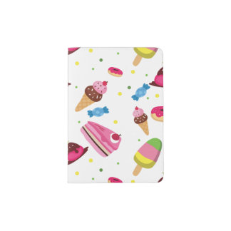 Cute candy and sweet colored pattern passport holder