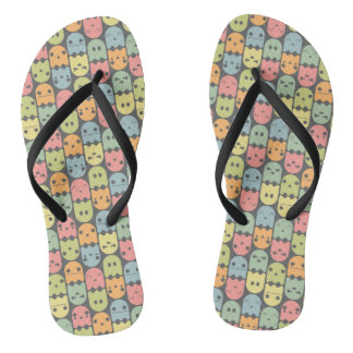 Cute Candy Ghost Pattern Flip Flops