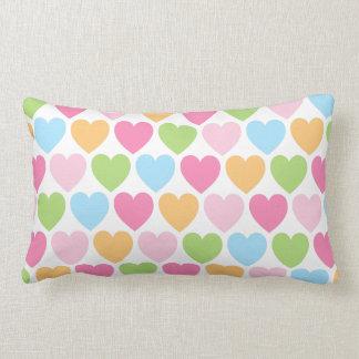 Cute candy hearts girly custom pillow
