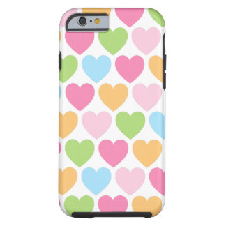 Cute candy hearts girly iPhone 6 case for girls