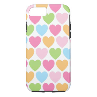 Cute candy hearts girly iPhone 7 case for girls