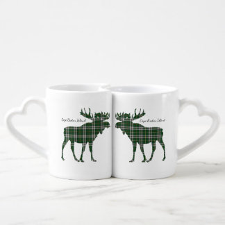 Cute Cape Breton Island moose kissing lovers mug
