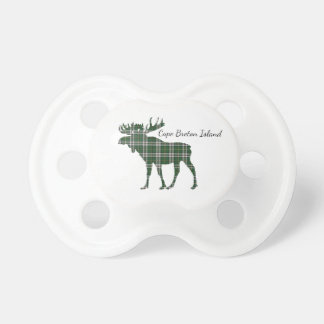 Cute Cape Breton Island moose tartan baby soother