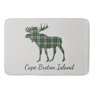 Cute Cape Breton Island moose tartan Bathroom mat
