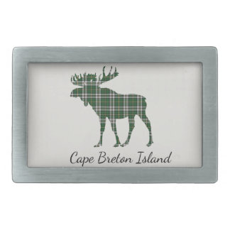 Cute Cape Breton Island moose tartan belt buckle