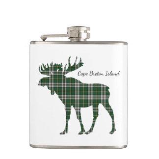 Cute Cape Breton Island moose tartan drink flask