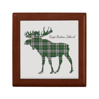Cute Cape Breton Island moose tartan memory box