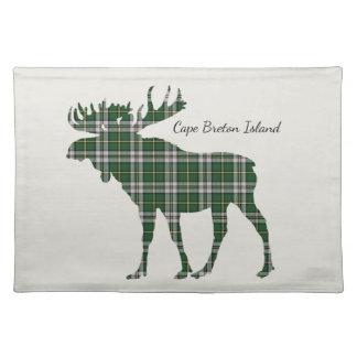 Cute Cape Breton Island moose tartan place mat