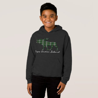 Cute Cape Breton Island moose tartan  sweater