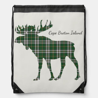 Cute Cape Breton Island moose Tartan Travel bag