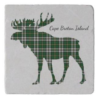 Cute Cape Breton Island moose tartan trivet