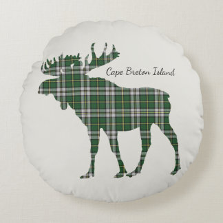 Cute Cape Breton Island Tartan Moose pillow
