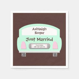 Cute Car Wedding Paper Napkins