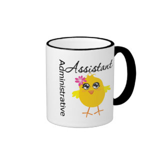 Cute Career Chick Administrative Assistant Mugs