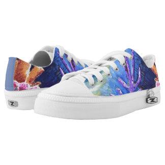 Cute Caribbean Coral Low Top Shoes by Yotigo