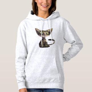 Cute Caricature Cat Hoodie