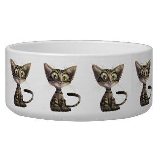 Cute Caricature Cat Large Pet Bowl