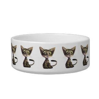 Cute Caricature Cat Medium Pet Bowl