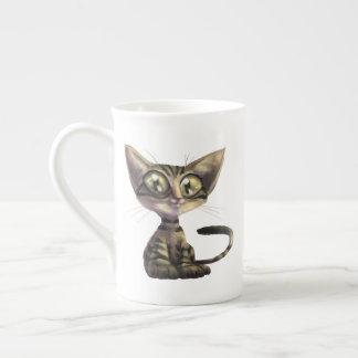 Cute Caricature Cat Tea Cup