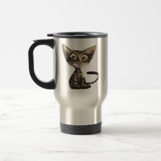 Cute Caricature Cat Travel Mug