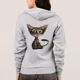 Cute Caricature Cat Zip Hoodie